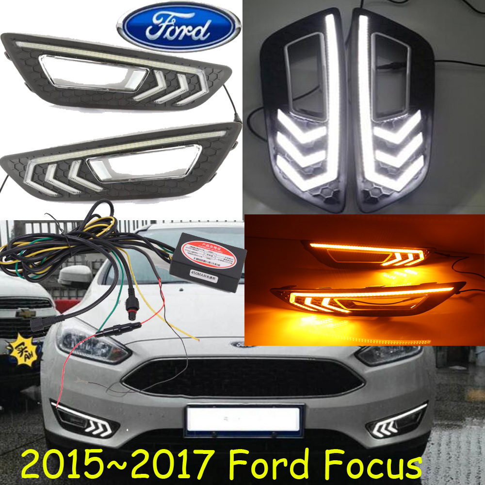 ФОТО Turn signal and dimming style Relay Gloss 12V LED Car DRL daytime running lights with fog lamp hole for 2015 2016 2017