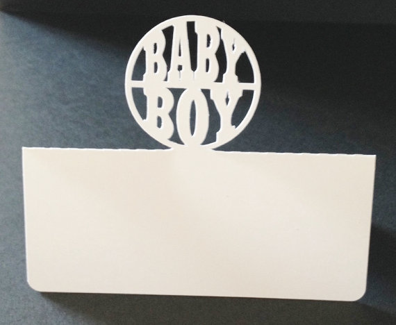 Baby Boy Place Cards Holiday Wedding Bridal Baby Shower Dinner