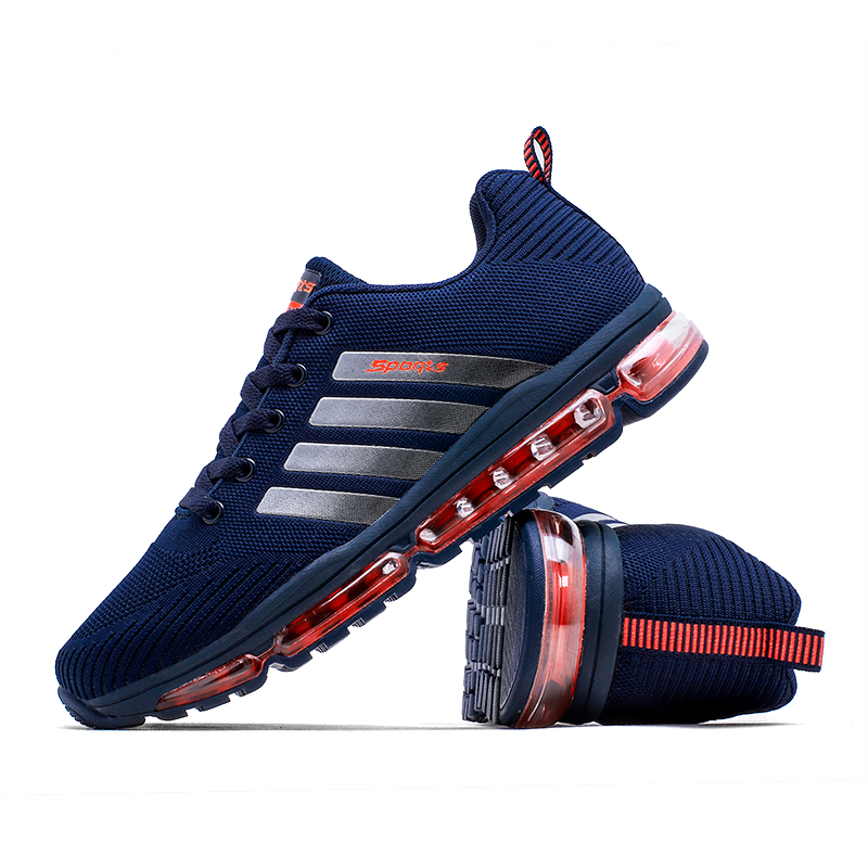 NEW spring Running shoe Men sneakers New high quality tennis sport Flying air cushion running shoes outdoor sneakers Men solar powered 0 64w 10lm 200 led blue light garden christmas party string fairy light blue 20 5m