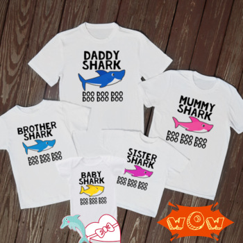 Baby Shark Doo Mummy daddy T Shirt father son Shirt Mom dad Family T Shirt Cute Lovely daddy baby clothes Party Funny Gift Tee