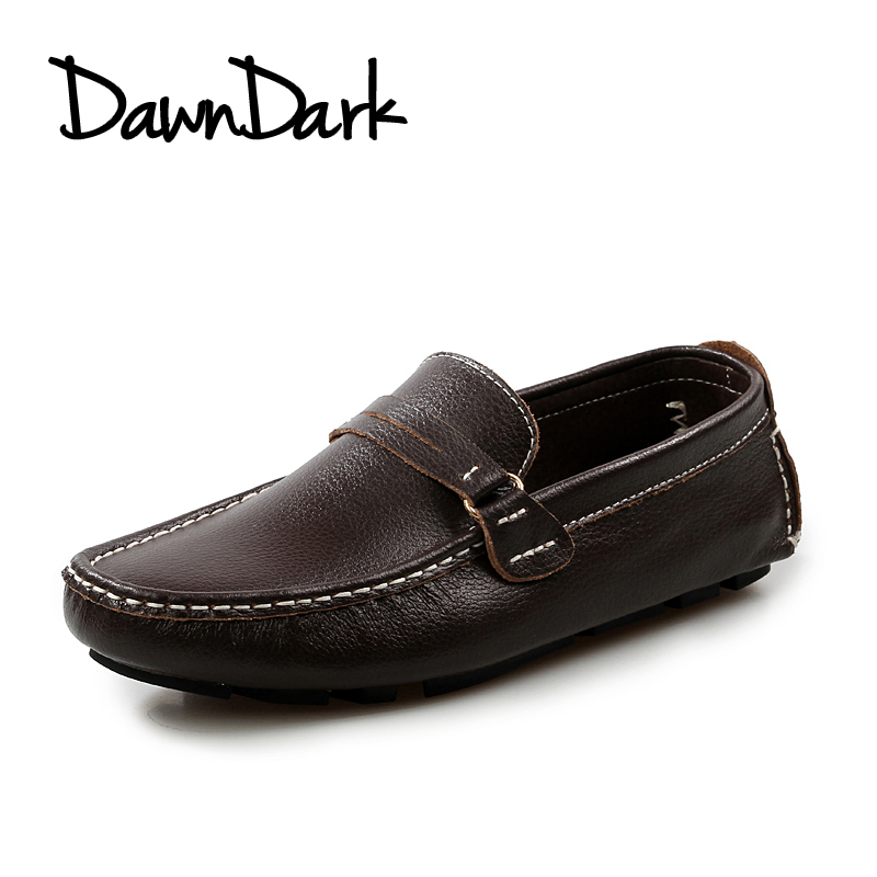 Leather Causal Shoes for Men Spring Summer Male Split Leather Moccasins Driving Shoe Slip on Man Flat Fashion Loafers