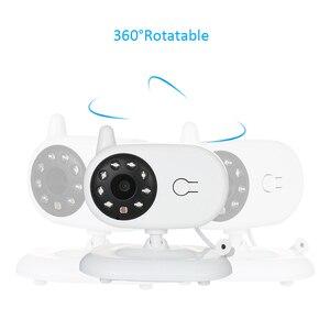 Image 4 - Babyphone Camera bezprzewodowa elektroniczna niania z kamerą cyfrowe monitorowanie temperatury w podczerwieni bezpieczeństwo Baba kamera Eetronica