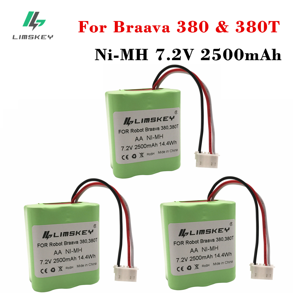 High Quality 3PCS 7 2Volt New 2 5Ah 2500mAh Ni MH 7 2V Rechargeable Battery for