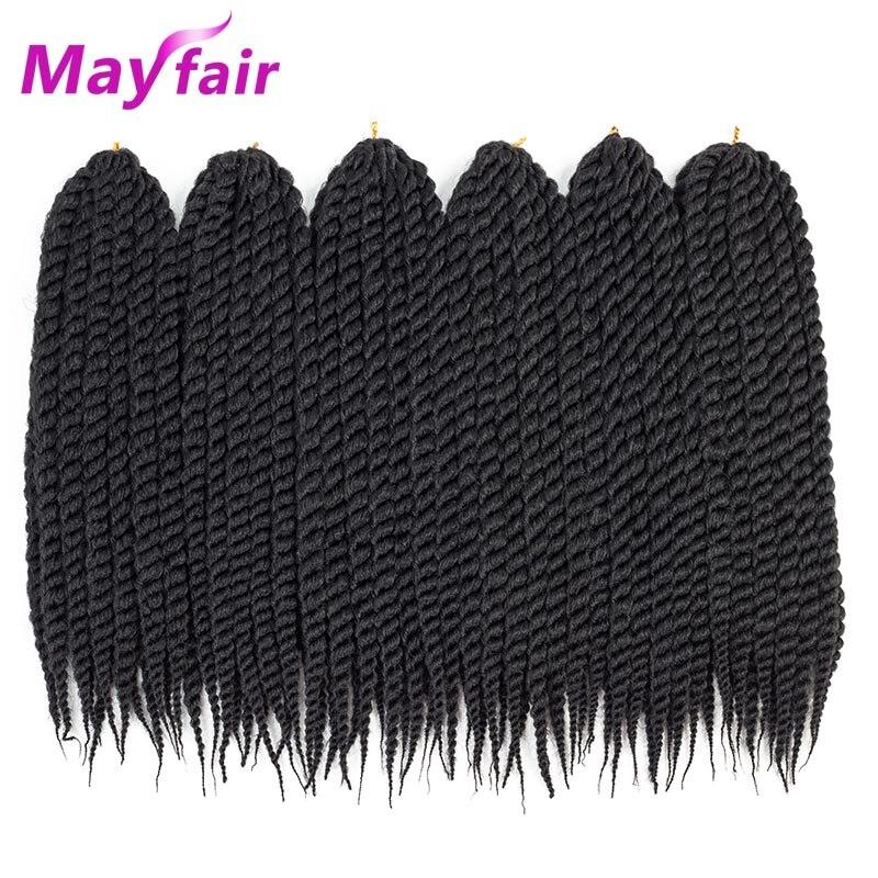 MAYFAIR 6packs Twist Hair 12″18″22″ Havana Twist Crochet Braids 12 Havana Mambo Twist Synthetic Braiding Hair 12strands/Pack
