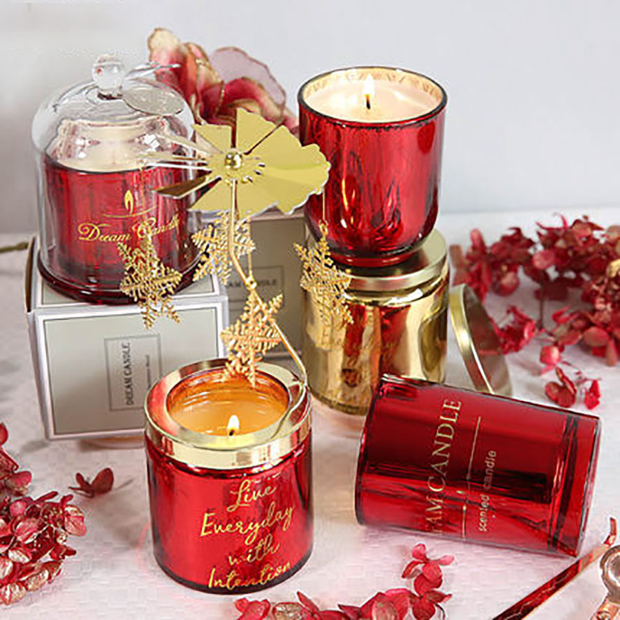 Christmas Red Rose Oil Soy Gift Fake Candles Wax Aroma Oil Lamp Battery Candless Wedding Decoration Scented Velas Kaarsen C7018 Skillful Manufacture Home & Garden