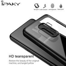 IPAKY Case For Samsung Galaxy S9 Case Soft TPU+PC Transparent Back Cover Armor Shockproof Case For Samsung Galaxy S9 Plus Fundas