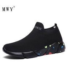 Mwy tecido elástico das senhoras meias sapatos zapatillas mujer deportiva das mulheres dos homens baixo superior tênis não deslizamento sapatos casuais sapatos de caminhada