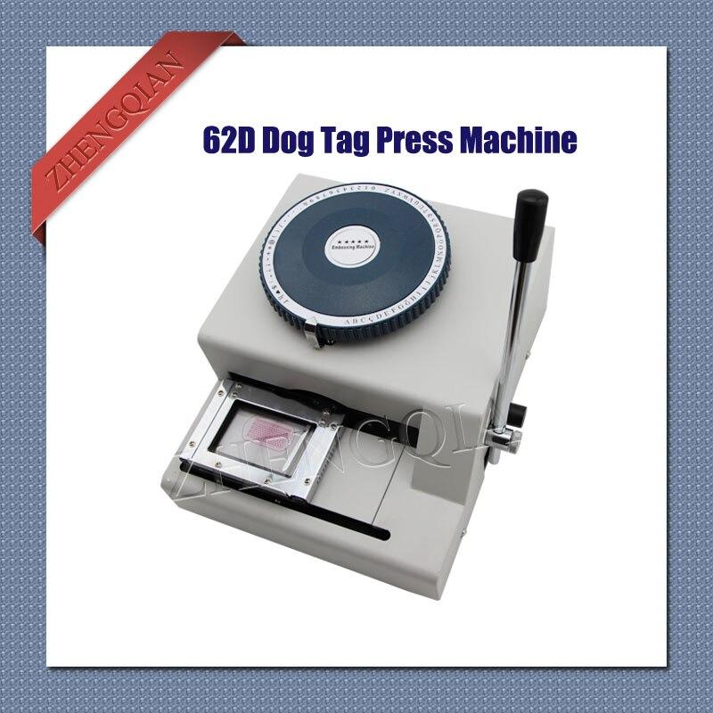 62D mots et codes pvc carte presse machine 52D manuel chien étiquette embosser code imprimante