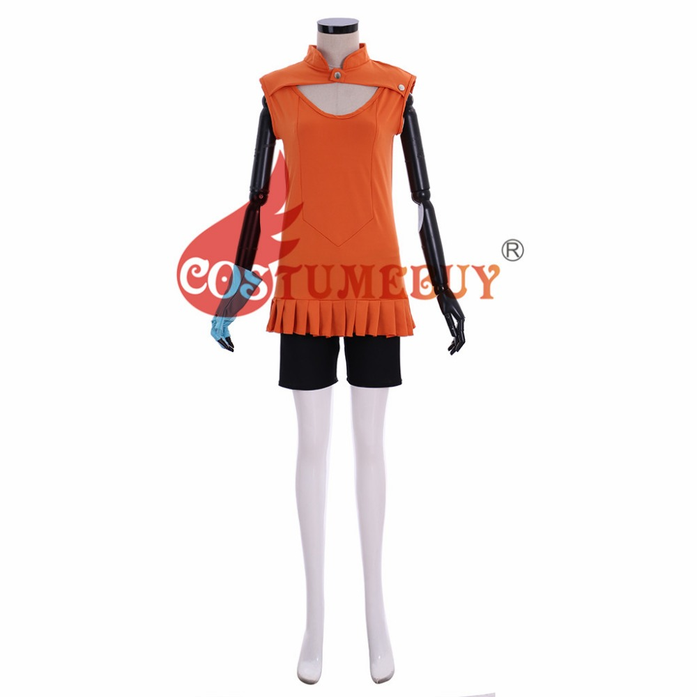 CostumeBuy Anime The Seven Deadly Sins Cosplay Diane Costumes Top Pants Glove Suits Girls Halloween Costume Custom Made