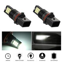 2pcs Universal 24W 6000K 2400LM P13W Automotive Fog Lamp Bulb Waterproof 3030SMD 3x8 LED for Cars Vehicles