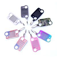Brand Name Ring Pink Key Chain Fashion Car Keychain Silver Ring Stainless Steel Key Chain Style