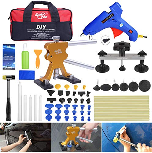 Super PDR Dent Repair Tools Pulling Bridge Fly5D Puller 53Pcs Glue Removal Kits with Dent Paintless Body Lifter Bag Tool Auto