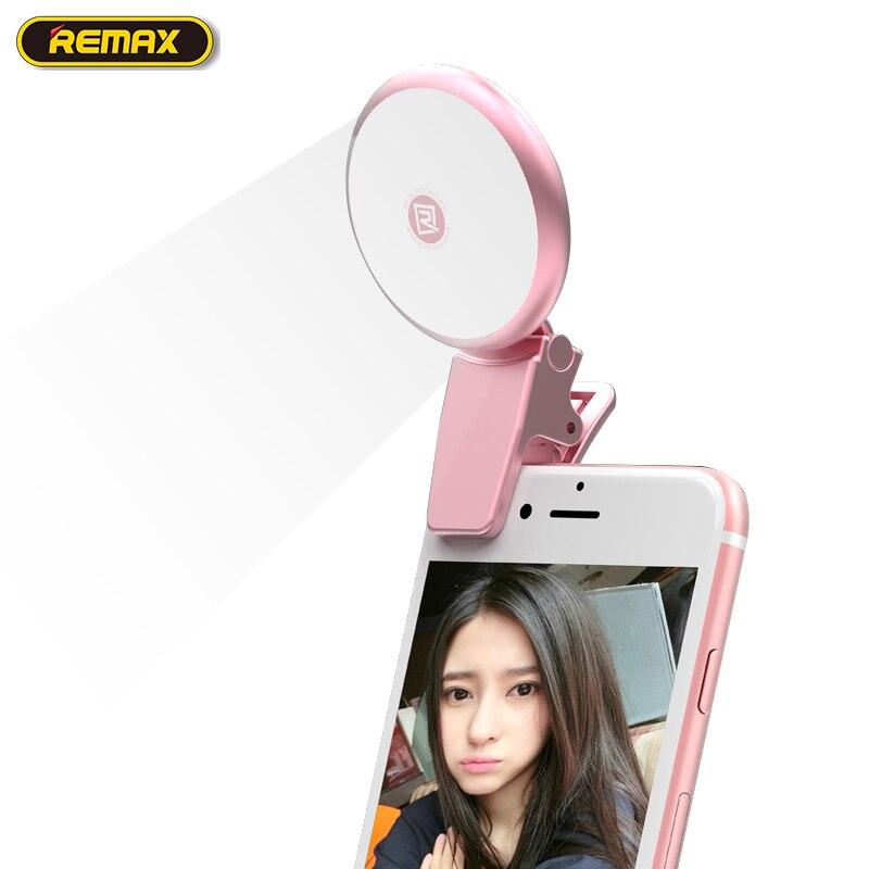 imágenes para Remax selfie flash led de luz de flash de la cámara del teléfono smartphone clip síncrono speedlite de destello para iphone 6 5s 5 7 plus para android