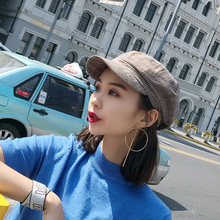 18 Trend Fashion Wild Retro Style Beret New Autumn And Winter Plaid British Newspaper Boy Hat Creative Octagonal
