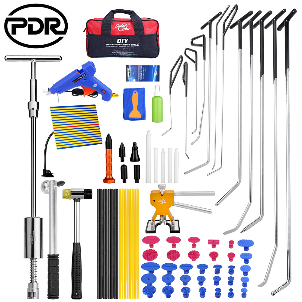 PDR Rods Hook Tools Paintless Dent Repair Car Dent Repair Dent Removal Reflector Board Dent Puller