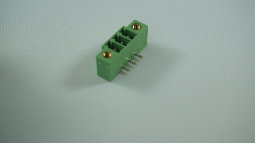 10pcs Pluggable terminal block 3.81mm header 3 poles solder right angle through hole green Tin plated cross 20020111-D031A01LF