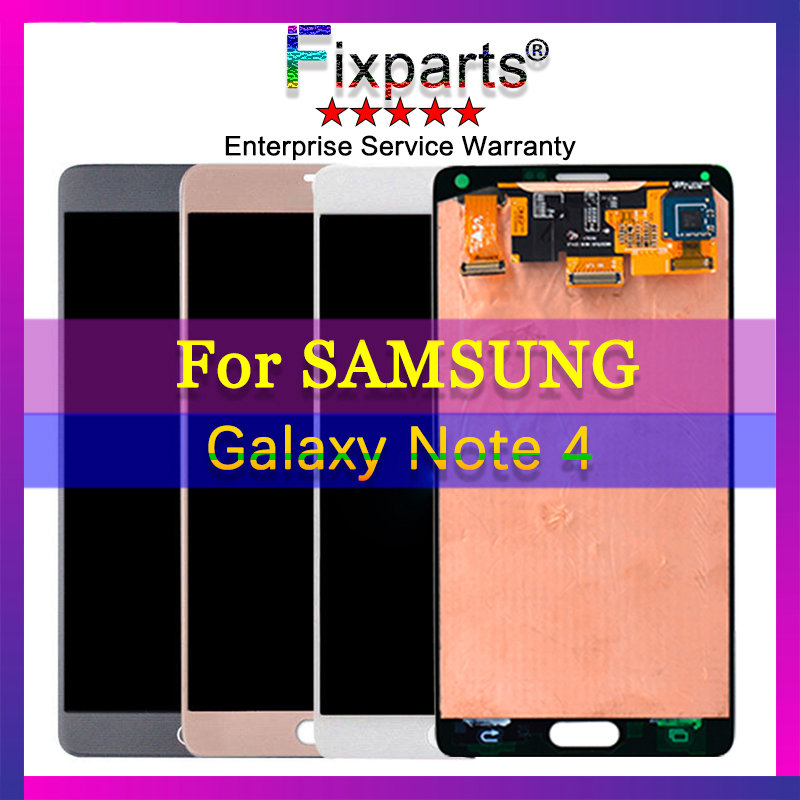 100% Tested Super AMOLED LCD for Samsung Note 4 N910 N910A N910F Note4  LCD Display Touch Screen Digitizer Assembly Sticker100% Tested Super AMOLED LCD for Samsung Note 4 N910 N910A N910F Note4  LCD Display Touch Screen Digitizer Assembly Sticker