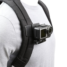 Montaje de abrazadera de Clip para mochila giratoria para GoPro Hero 8/7/6/5/4/3 Xiaomi Yi 4K Lite SJCAM SJ4000 EKEN H9/H9R accesorios para Cámaras Deportivas