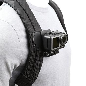 Obróć plecak zacisk uchwyt na gopro Hero 8 7 6 5 4 3 Xiaomi Yi 4K Lite SJCAM SJ4000 EKEN H9 H9R akcesoria do kamer sportowych tanie i dobre opinie PULUZ 1BBJ-01 Sony Garmin SOOCOO Szkielety i Ramki