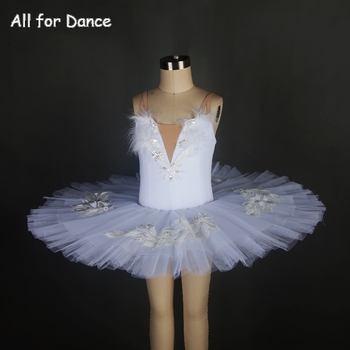 Customer Size Made 5 Layers Tulle White Color Ballet Dance Costume Pancake Tutu For Girls Performance/Competition Dance