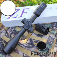 HD 4 20x50FFP Tactical Optics Rifle Scope First Focal Plane Reticle Dual Illuminated Night Hunting Riflescope For Gun