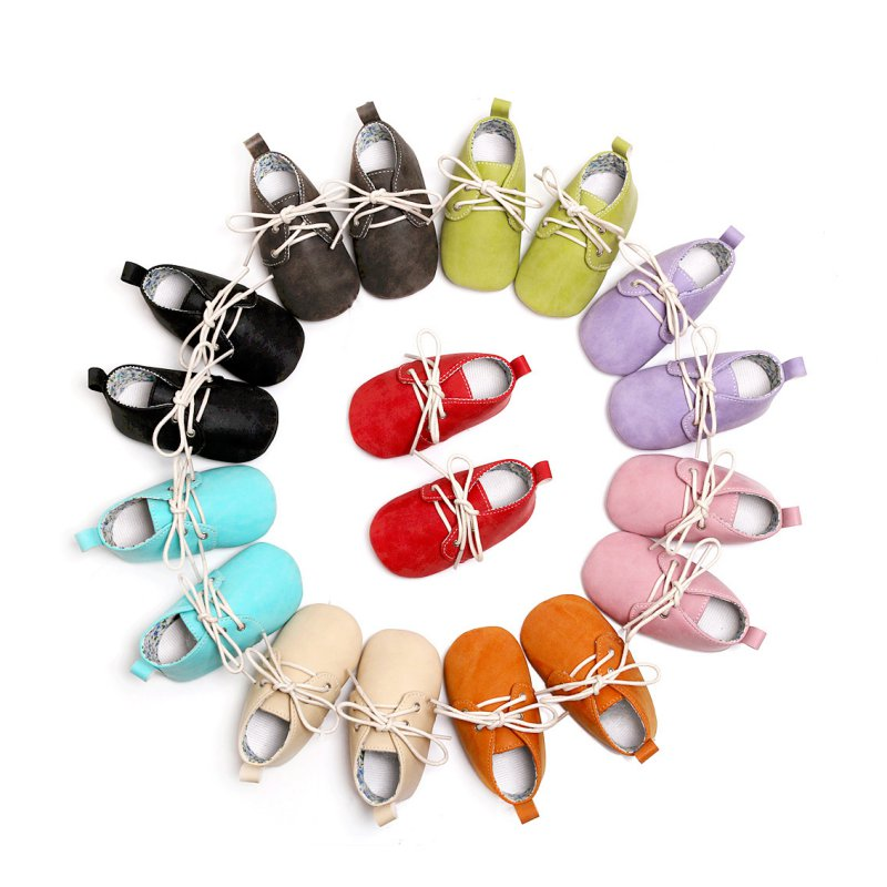 Baby Boys Girls PU Leather Infant Toddler Sneakers Crib Newborn Kid Babe Soft Soled Classic First Walkers Shoes