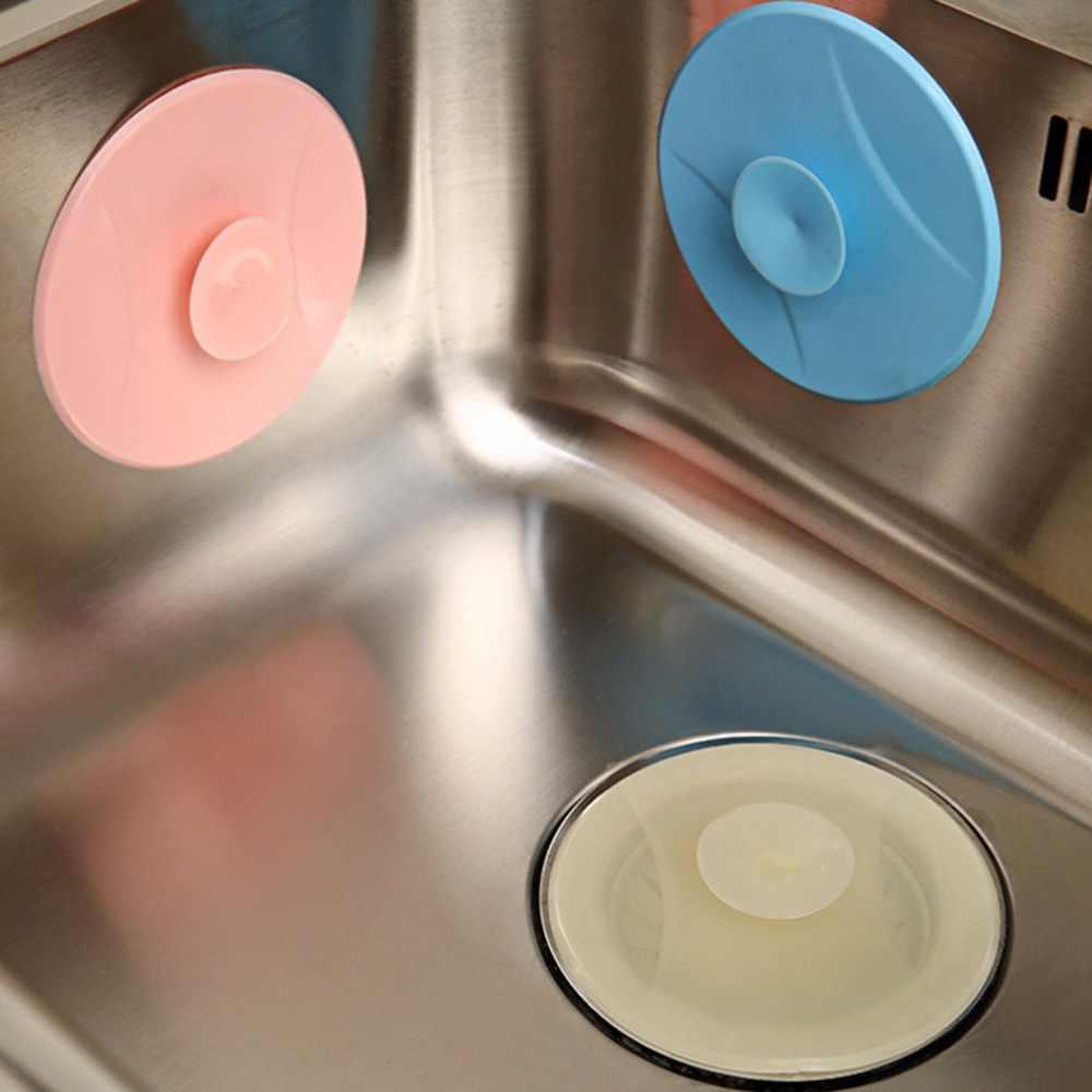 1Pc 물 플러그 고무 원형 실리콘 드레인 플러그 욕실 누출 방지 스토퍼 싱크 PVC 분지 세탁 싱크 욕조 스토퍼 새로운