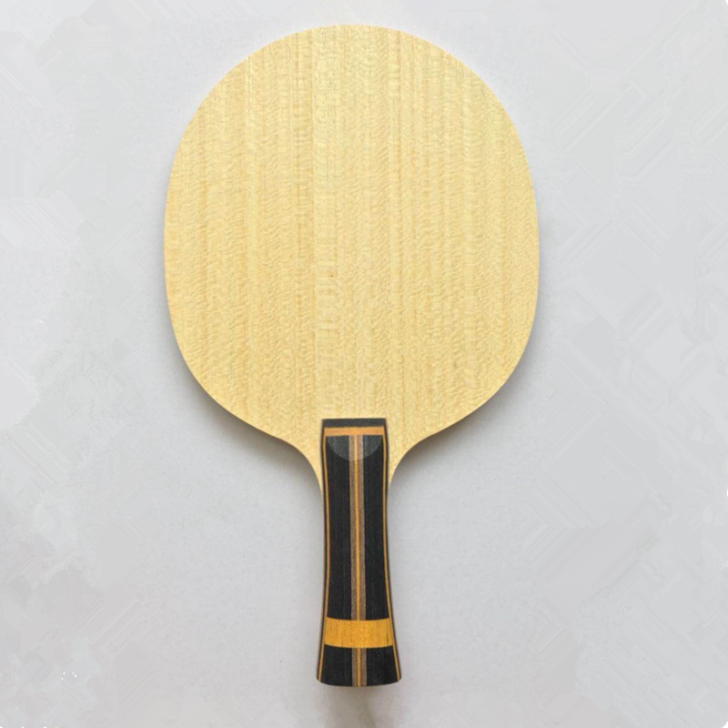 5 layers pure wood with 2 layers super zl carbon fiber table tennis racket Horizontal grip