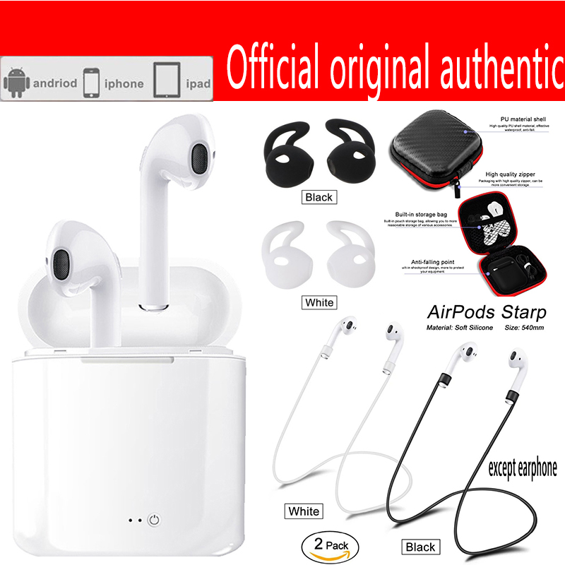 I7S TWS Wireless Bluetooth Earphones Pair In-Ear earpods Music Earbuds Set airpro For Apple iPhone 6 7 Samsung Xiaomi Head Phone tws wireless earphones bluetooth earphone pair in ear music earbuds set for apple iphone 6 7 samsung xiaomi sony head phone md1