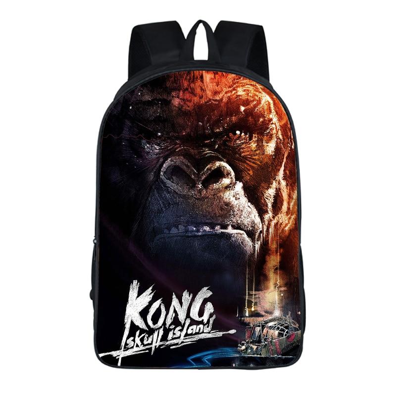 2018 New Women Bags Kong Skull Island prints Backpack