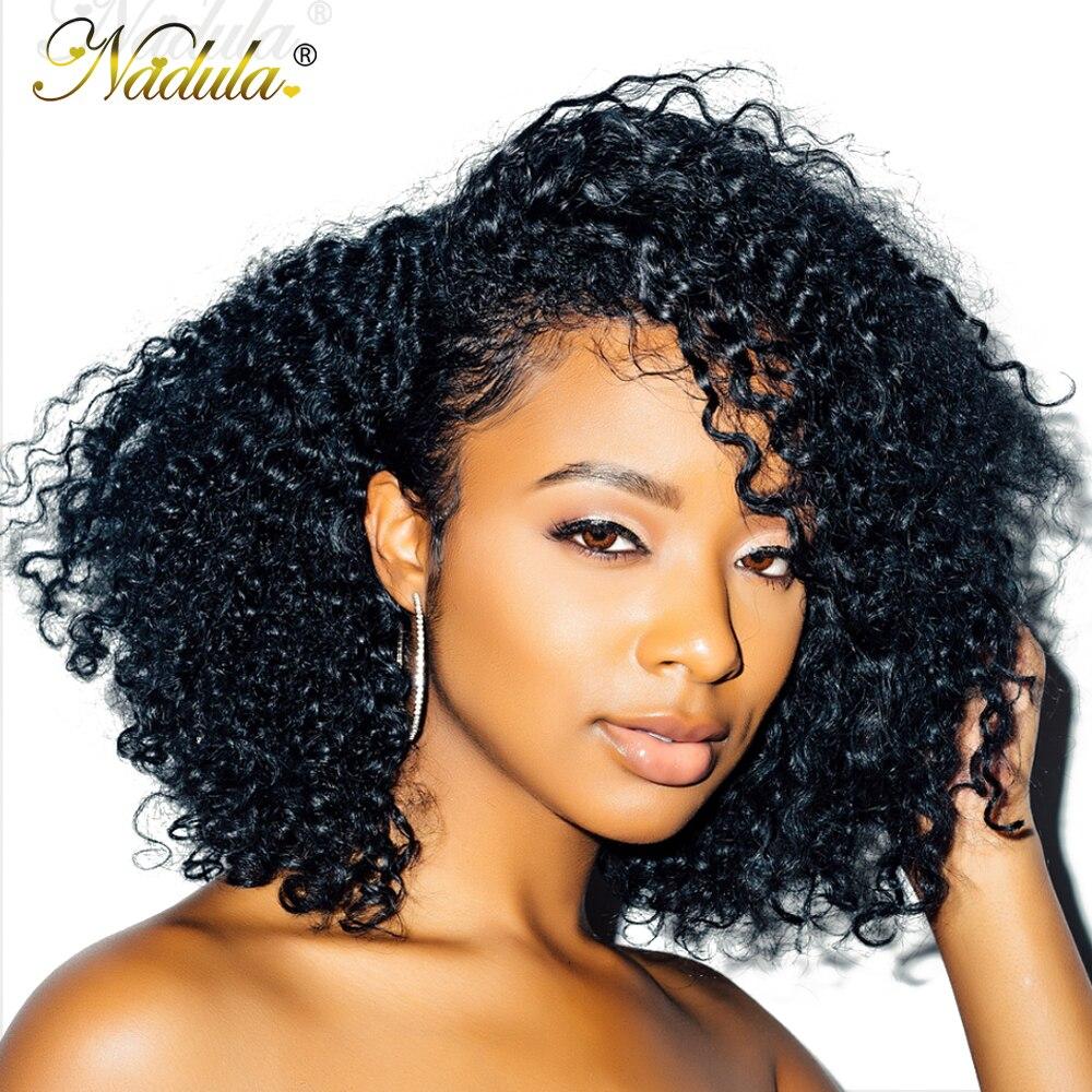 Nadula Hair 13 4 Short Bob Mongolian Kinky Curly Hair Wigs for Women Kinky Curly Lace