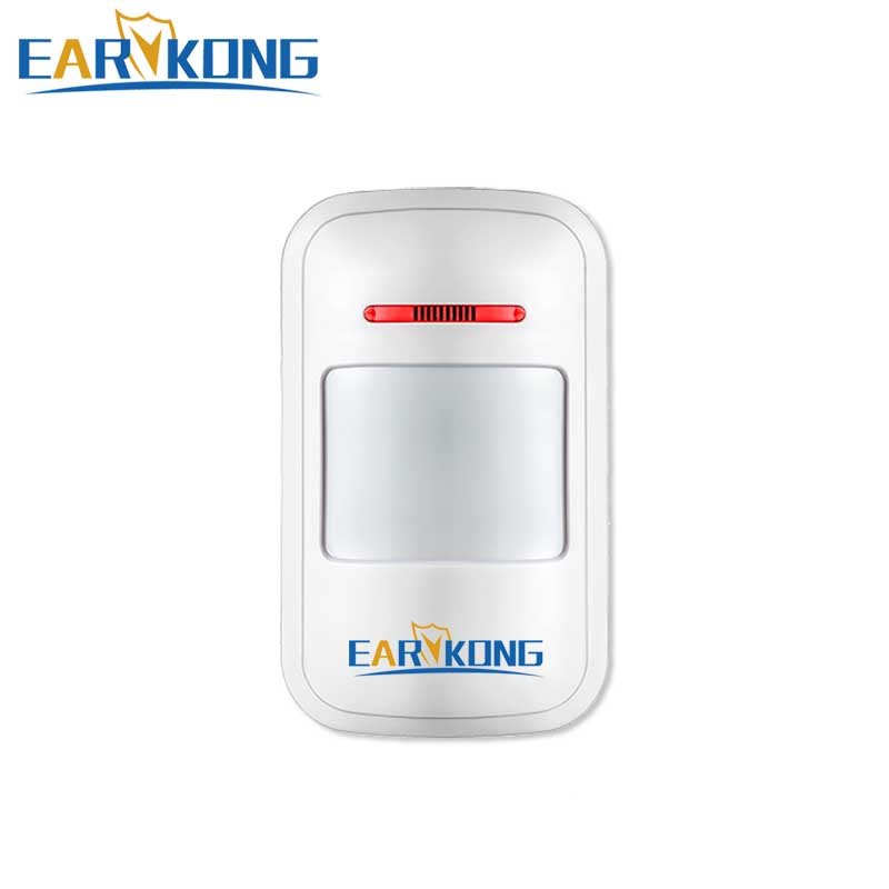 NEW Earykong 433Mhz Wireless PIR Sensor Motion Detector For Wireless GSM/PSTN Auto Dial Home Security Alarm System forecum 433mhz wireless magnetic door window sensor alarm detector for rolling door and roller shutter home burglar alarm system