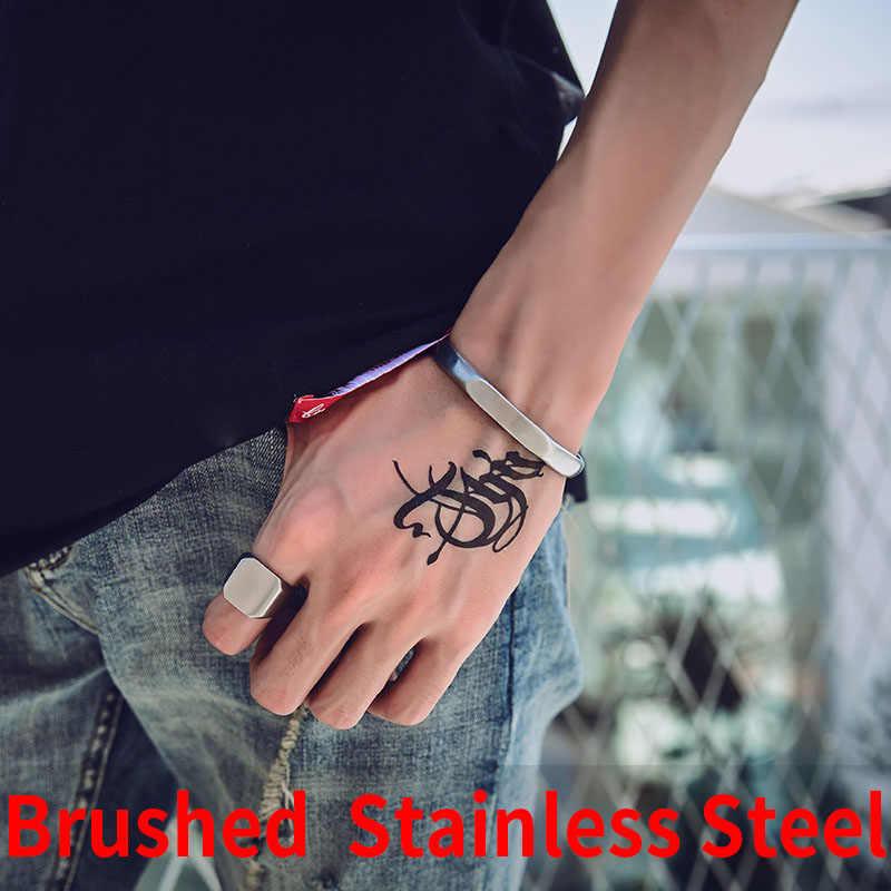 Beier Ретро литая стальная титановая пара браслет для мужчин и женщин простой модный браслет LBRG-021