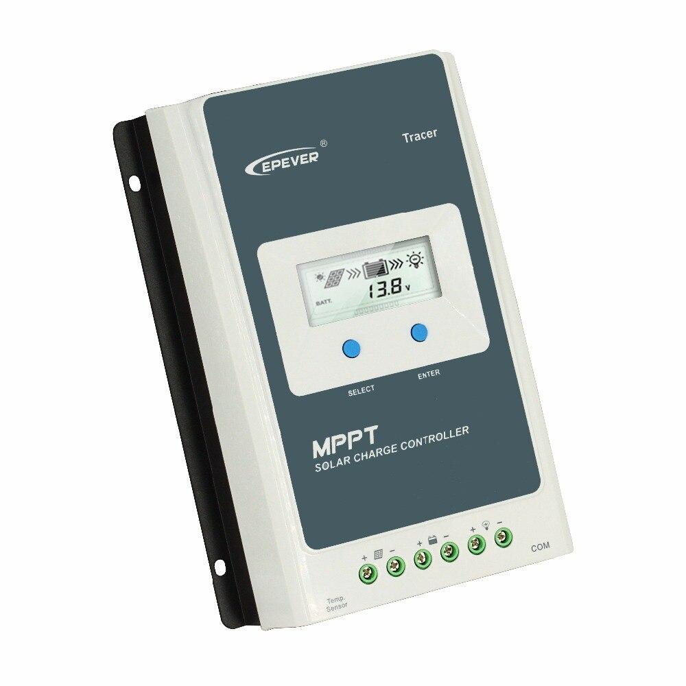 Régulateur de Charge solaire EPever MPPT 40A/30A/20A/10A régulateur solaire LCD à lumière noire pour Batteries Lithium-ion au plomb 12 V 24 V - 4