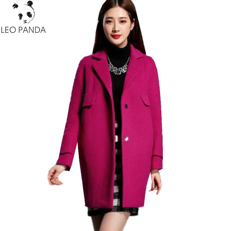 plum Mandarin Purple gray Zx431 blue Tweed Red De Automne épaule Hiver 2019 pink Mode Manteau Lâche Couvert Col Baisse Mince Nouveau Femmes Laine Femelle Bouton w1ARIq