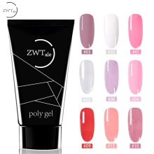 ZWTale Acrylic Poly Gel 30ml French Nail Art Clear Camouflage Color With Tools Crystal UV Polygel Poligel