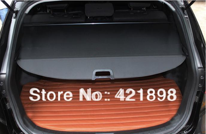 for hyundai santa fe sport 2013 2014 2015 aluminum alloy cloth rear cargo screen cover trunk. Black Bedroom Furniture Sets. Home Design Ideas