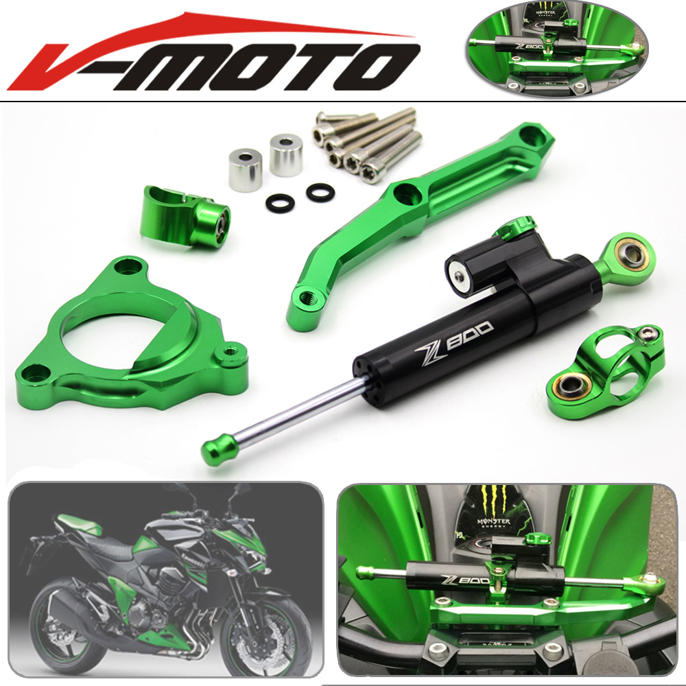 For Kawasaki Z800/E version 2013-2016 Motorcycle Accessories Steering Stabilize Damper Bracket Mount Motorbike Damper Steering тиски зубр 175мм столярные быстрозажимные эксперт 32731 175