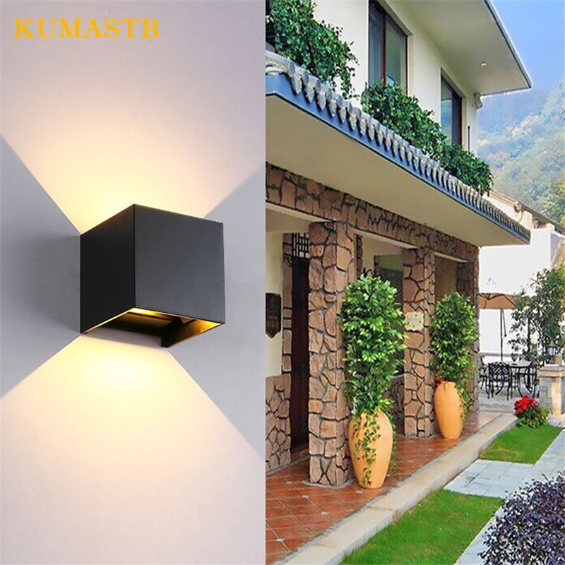 Waterproof Outdoor Aluminum 6W LED Wall Lamp COB High Brightness Up and downlight Wall Sconce Home Decor Stairs Lighting Fixture