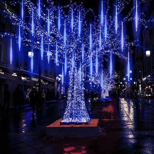 Beiaidi Connectable Meteor Shower Rain String 50cm 8 S Led Christmas Lights Wedding