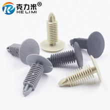 100pcs/lot  plastic Push in Fastener Rivets 6.5mm*6.7mm snaps clips for Hole Free shipping!