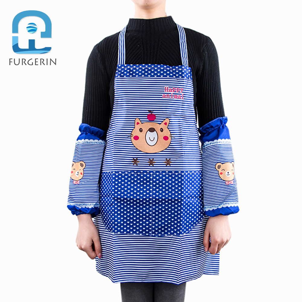 Aprons Furgerin Chef Apron Men Cartoon Waist Aprons For Woman Kitchen Apron Kit Oversleeve Cooking Catering Restaurant Kitchen Dress Back To Search Resultshome & Garden