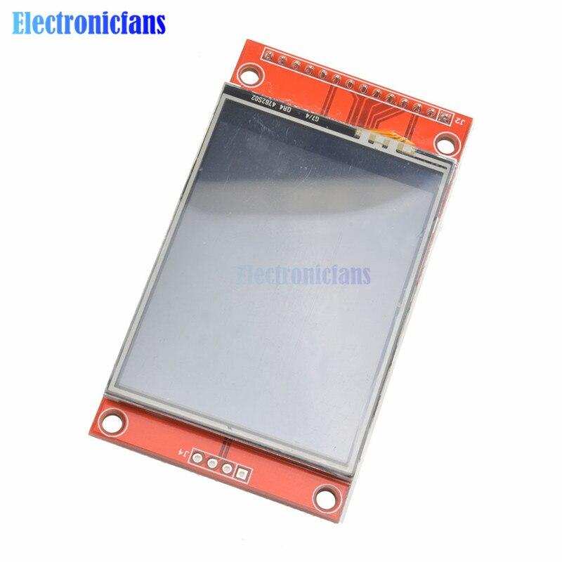 ili9341 tft lcd 240x320 - 240x320 2.4 SPI TFT LCD Touch Panel Serial Port Module With PBC ILI9341 3.3V 2.4 Inch SPI Serial White LED Display