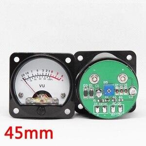 Image 2 - 2 stücke 45mm Große VU Meter Stereo Audio Verstärker Board level Anzeige Einstellbar Mit Fahrer