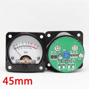 Image 2 - 2pcs 45mm Big VU Meter Stereo Audio Amplifier Board level Indicator Adjustable With Driver