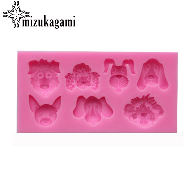 1pcs UV Resin Jewelry Liquid Silicone Mold Dog Animal Resin Charms Molds For DIY Intersperse Decorate Making Jewelry
