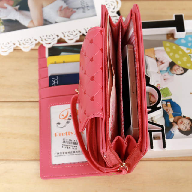 Online Shop Popular Love Heart Women Wallet Delicate Lady Purse New Design  Female Clutch Multicolor Card Holders Fresh Girl Change Purse  e6767a673b183