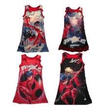 2017 verano niño niñas dress milagrosa mariquita cosplay fancy dress shirt(China (Mainland))