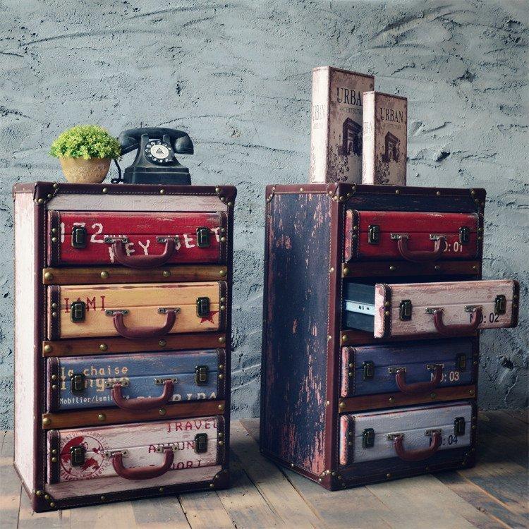 US $392.55 33% di SCONTO|Vintage Chic Armadi Decorativo Decorazione Retrò  Arredamento Soggiorno Lato Armadio Di Stoccaggio Mobili Per La Casa Decor  ...