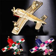 Cute Plane Brooches Alloy Airplane Brooch Pins For Women Costumes Model Jewelry Suit Clips Child Kids Gift(China)